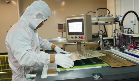 プリント基板製造工程,液体感光レジスト印刷